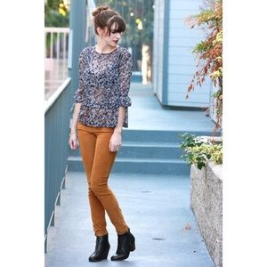 Madewell Brown Corduroy Skinny Pants